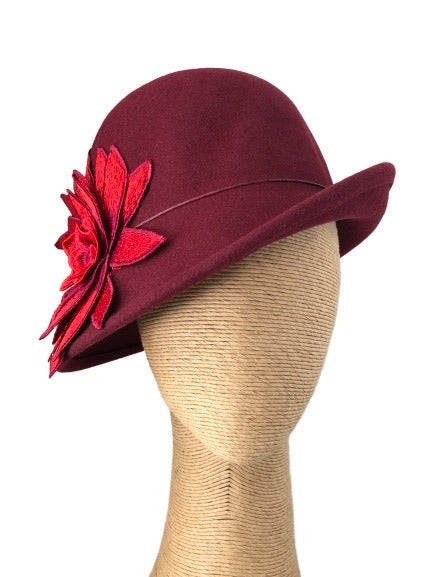 Max Alexander Elodie Felt Cloche Hat in Various colours