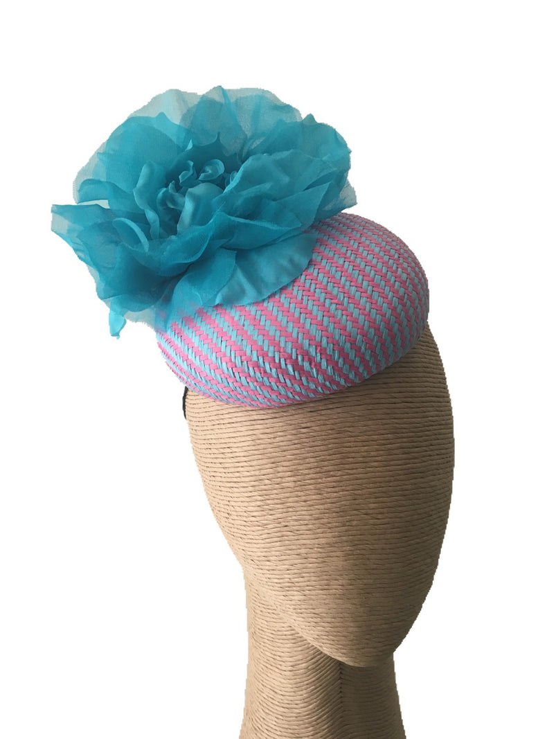 Max Alexander Fuchsia & Aqua Hat with Aqua Flower