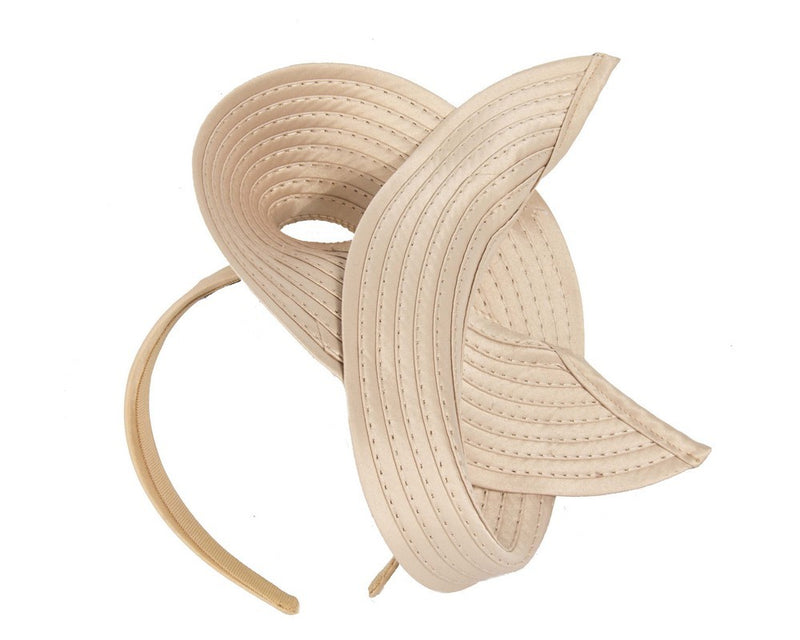 Max Alexander Judi Loop Headpiece on a Headband in Nude