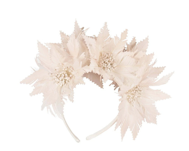 Max Alexander Kaylee Feather Headpiece in Blush Pink