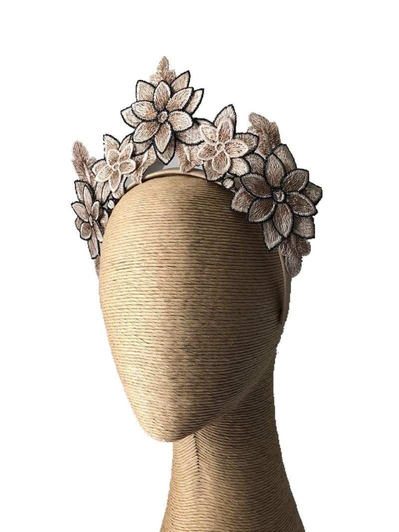 Max Alexander  Lucia Lace Flower Crown on a Headband