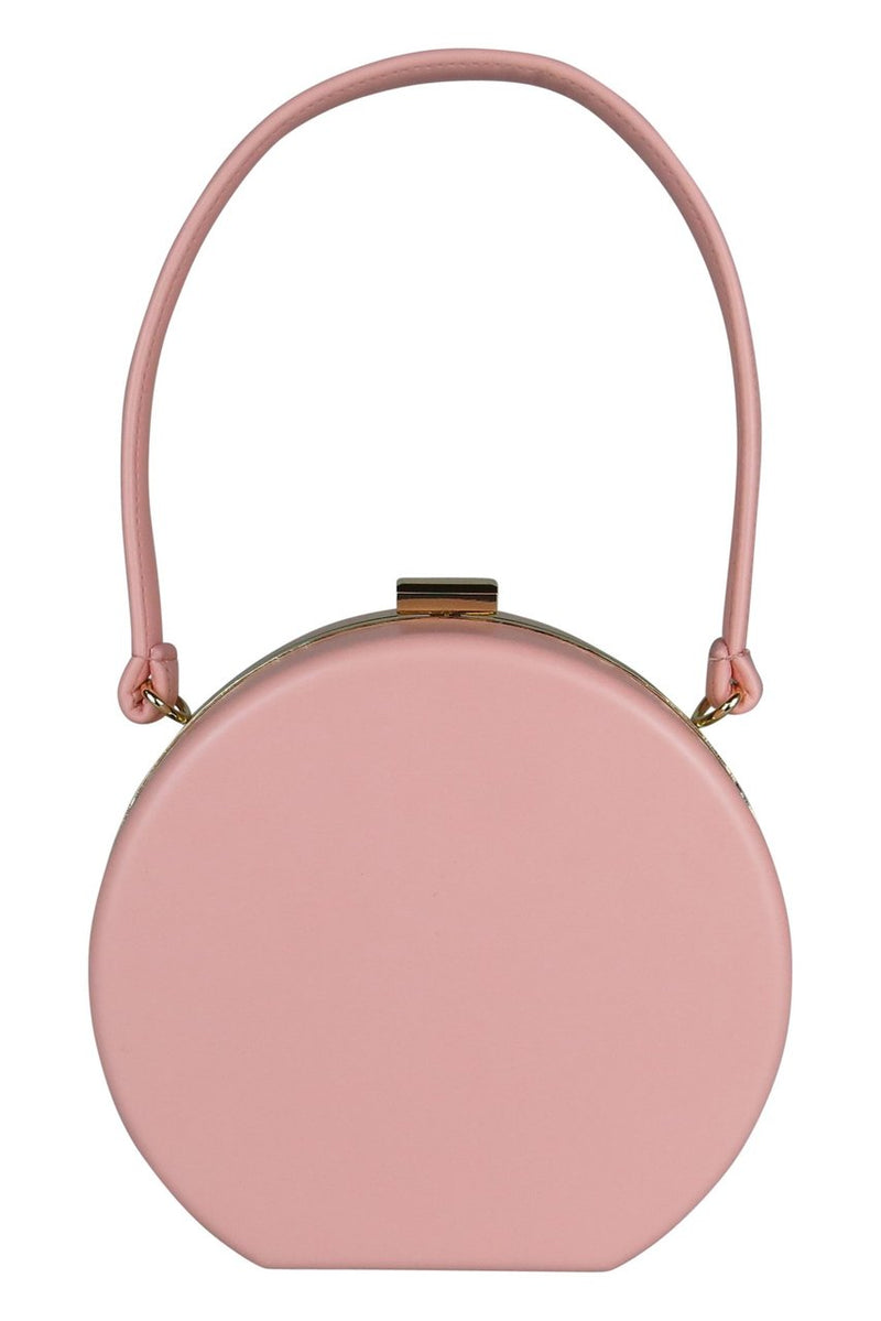 Morgan & Taylor Aleah Round Bag in Nude Pink