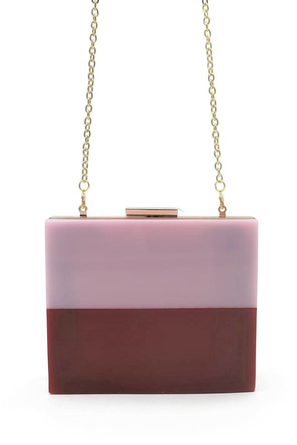 Morgan & Taylor Saisha Clutch in Pink & Red