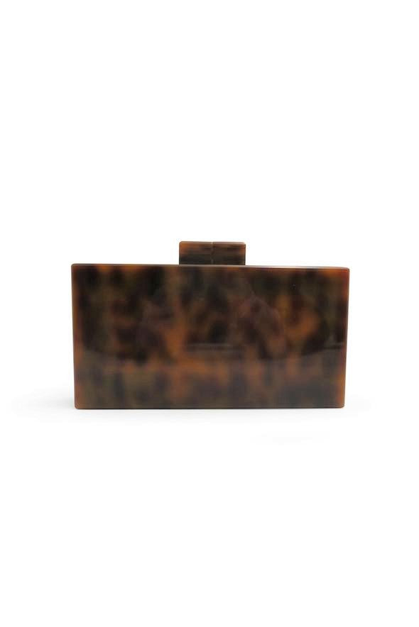 Morgan & Taylor Simona Clutch in Tortoiseshell