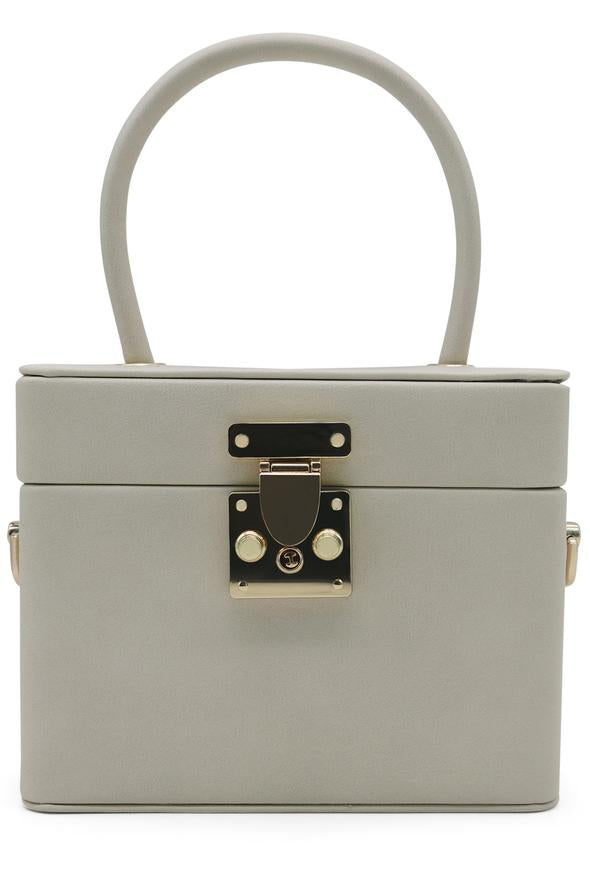 Morgan & Taylor Medina Top Handle Bag in Beige