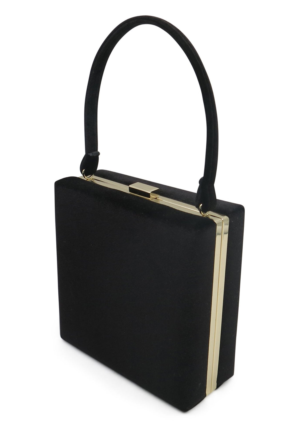 Morgan & Taylor  Cameron Top Handle Velvet Bag in Navy or Black