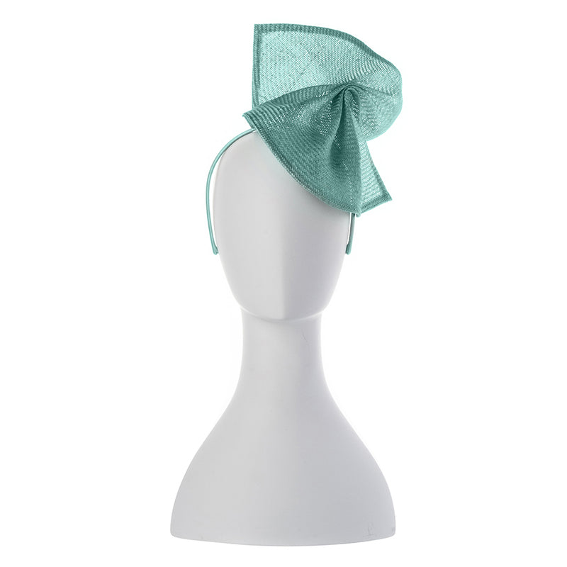 Olga Berg Elisa Parasisal Twist Fascinator in Aqua