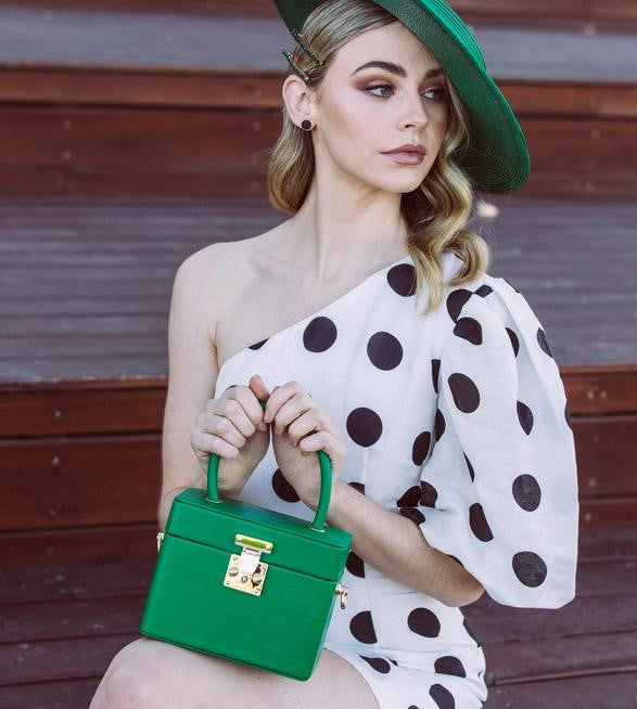 Morgan & Taylor Medina Top Handle Bag in Green