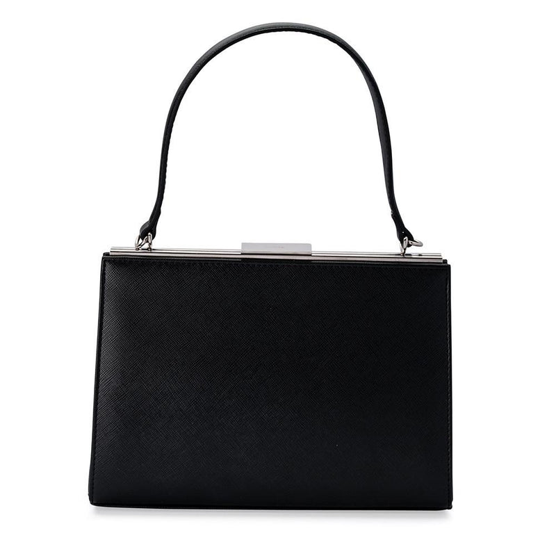 Olga Berg Harlyn Top Handle Bag in Black