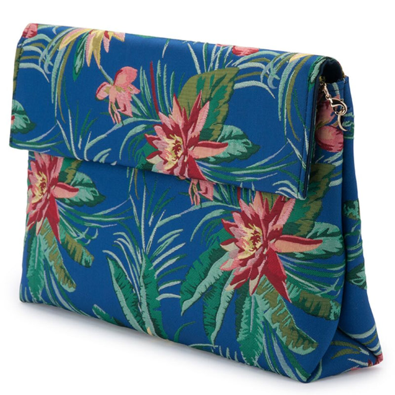 Olga Berg Bailey Tropical Shoulder Bag in Blue