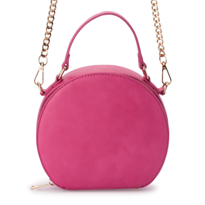 Olga Berg Maria Top Handle Bag in Fuchsia