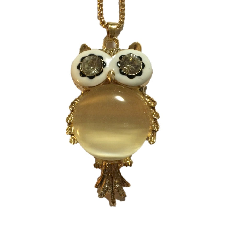 Owl Pendant Funky Necklace
