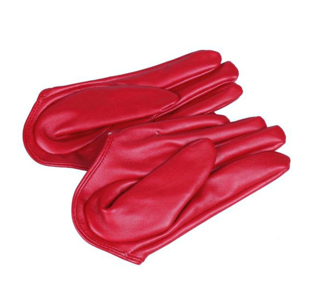 Get Racy Half Palm Gloves in Red