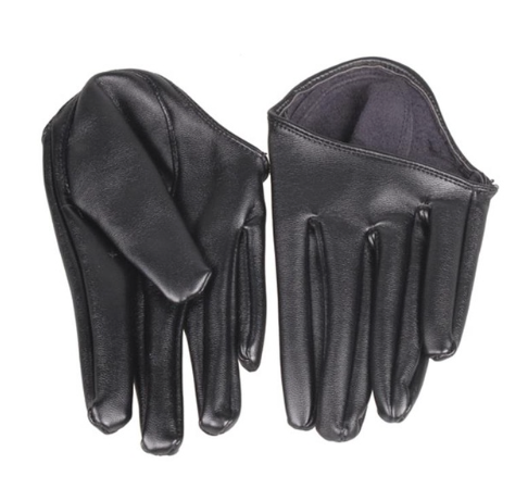 Get Racy Half Palm Gloves in Black