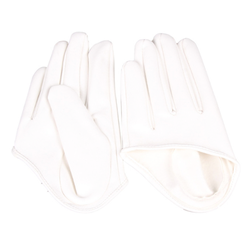 Get Racy Half Palm Gloves in White