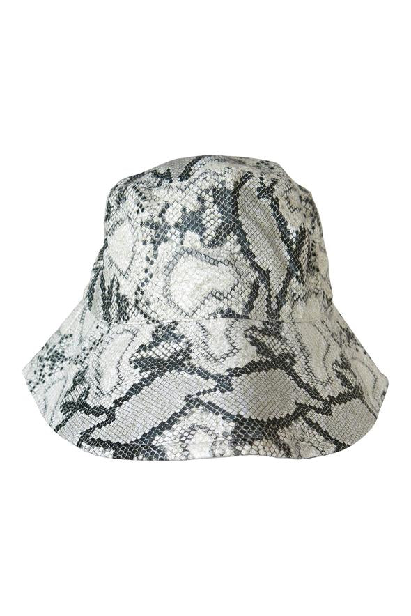 Morgan & Taylor Farah Bucket Hat in Snake