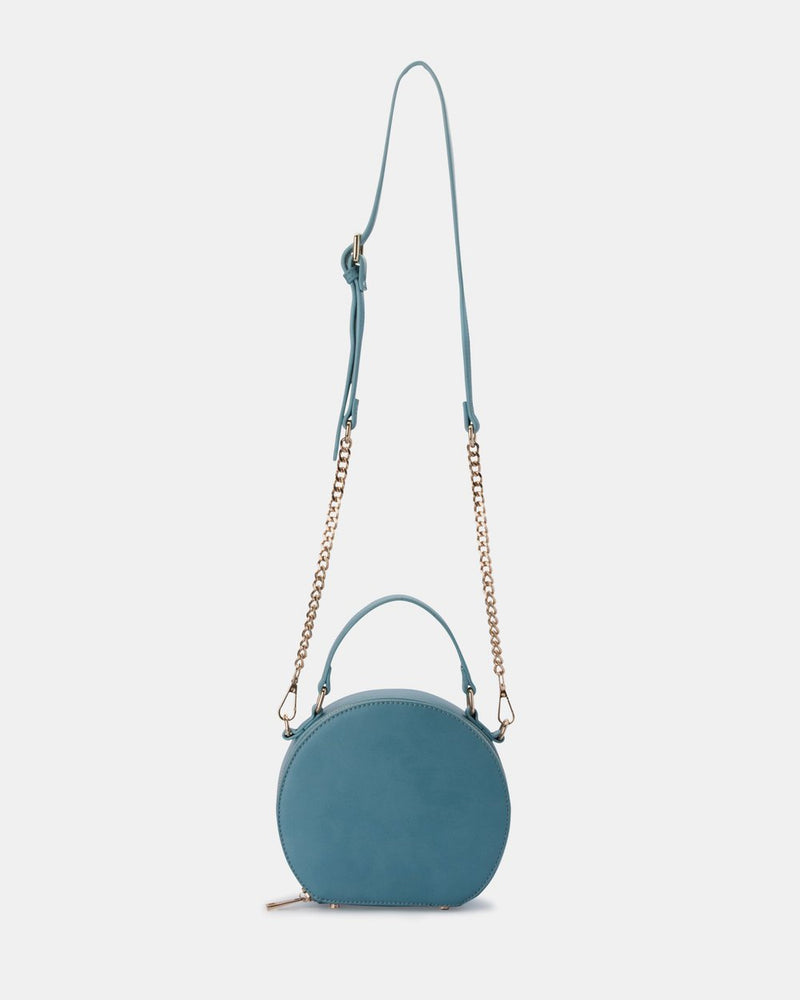 Olga Berg Maria Top Handle Bag in Blue