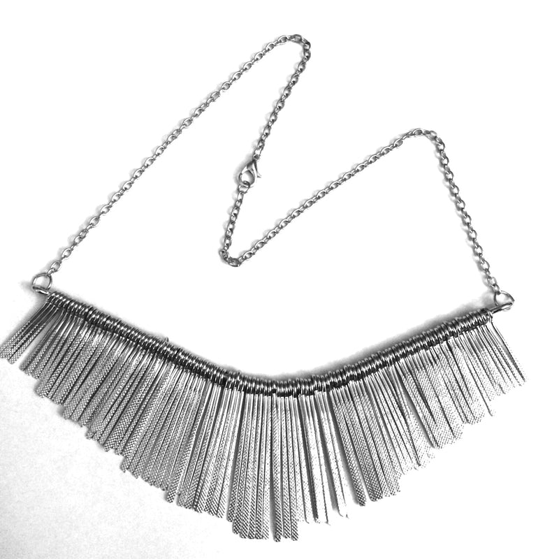 Simple Stylish Silver Tassel Necklace