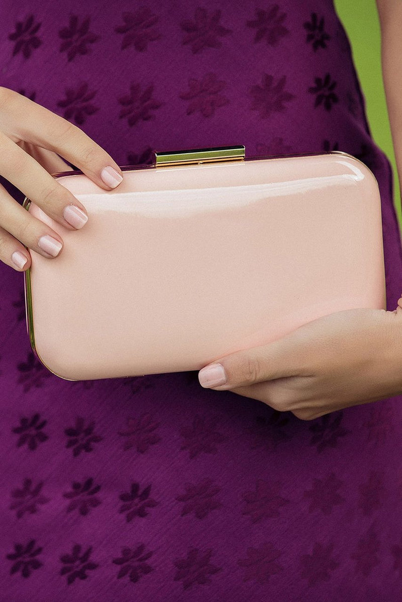 Morgan & Taylor Eloise Clutch Bag in Peach