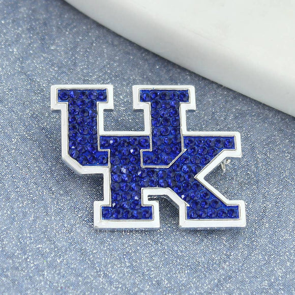 UK Kentucky Crystal Logo Pin - Pink Julep Boutique
