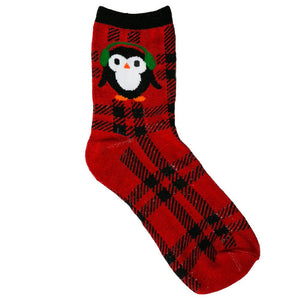 Plaid Penguin Socks