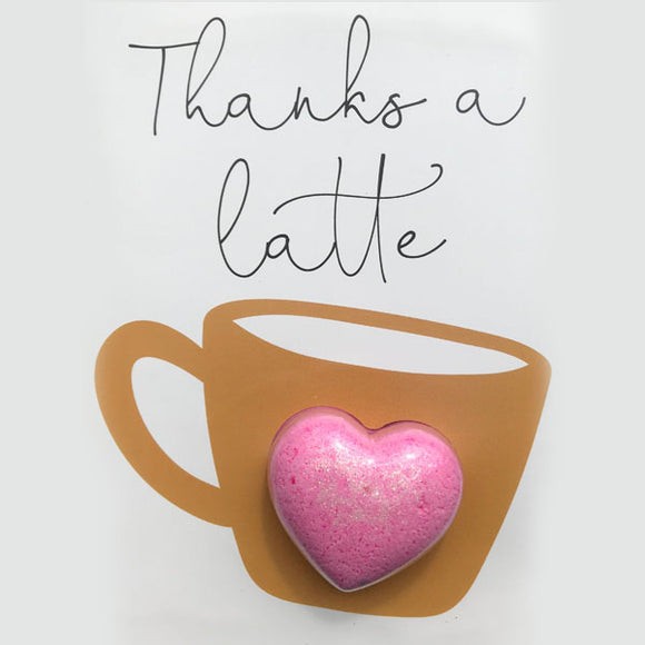 Feeling Smitten - Thanks A Latte Bath Card - Pink Julep Boutique