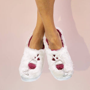 Wine a Little - Classic Slippers - Pink Julep Boutique