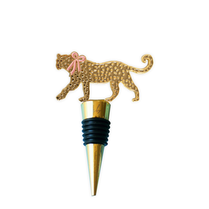 Leopard Wine Stopper - Pink Julep Boutique
