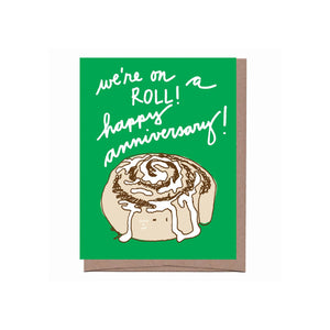 Scratch & Sniff Cinnamon Roll Anniversary Card - Pink Julep Boutique
