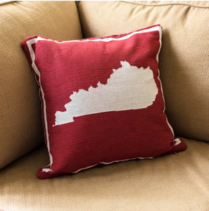 Red Kentucky Pillow - Pink Julep Boutique