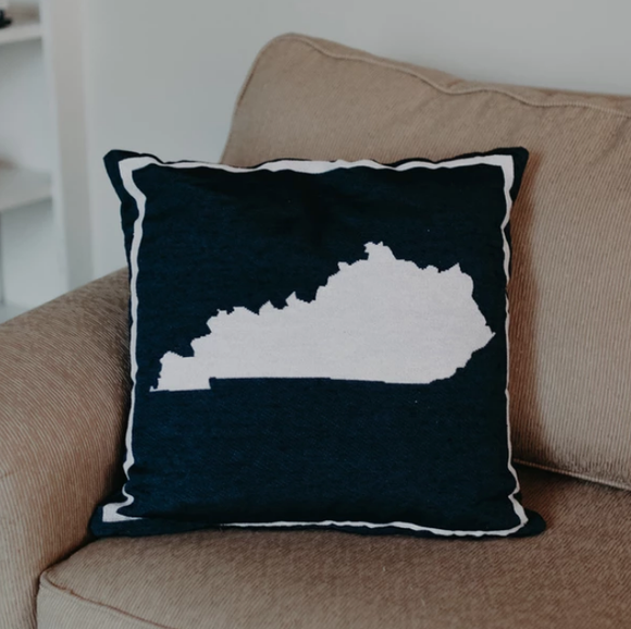 Navy Kentucky Pillow - Pink Julep Boutique