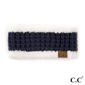 Navy Knit Head Band - Pink Julep Boutique