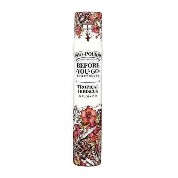 Poo-Pourri Go on the Go Spray 10ml in Tropical Hibiscus - Pink Julep Boutique