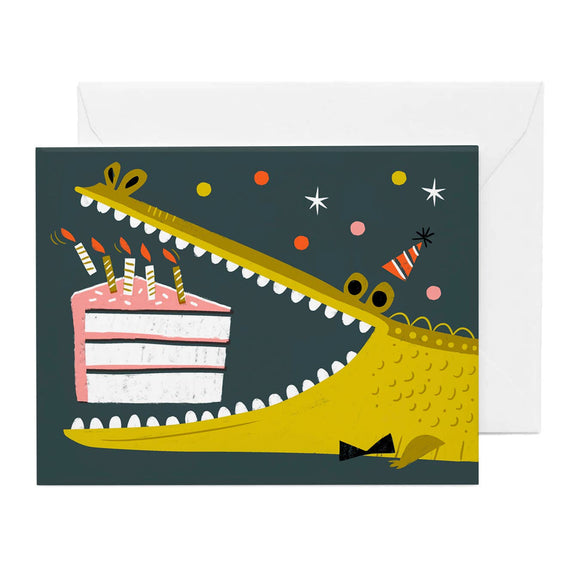 Gator Loves Cake Birthday Card - Pink Julep Boutique