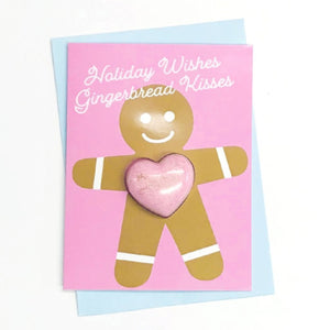 Gingerbread Kisses Greeting Card - Pink Julep Boutique