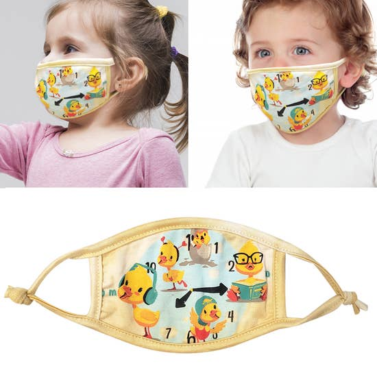 Double Layer Washable Duck Toddler Face Mask IN STOCK NOW - Pink Julep Boutique