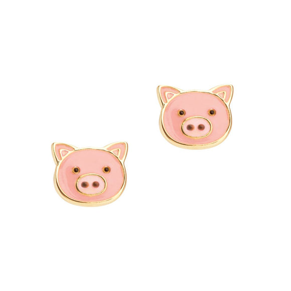 Girl Nation - Precious Pig Cutie Stud - Pink Julep Boutique