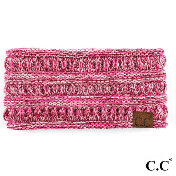 Pink Four Tone Knit C.C Ponytail Headband - Pink Julep Boutique