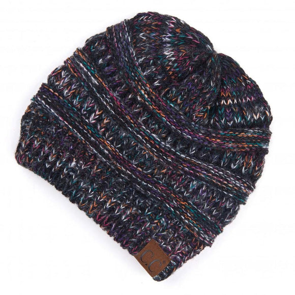 Black Multi C.C  Beanie - Pink Julep Boutique