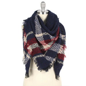 Red/Blue Blanket Scarf