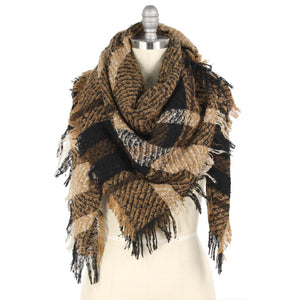 Taupe Blanket Scarf - Pink Julep Boutique