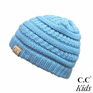 C.C Kid's Solid Knit Beanie- Pale Blue - Pink Julep Boutique