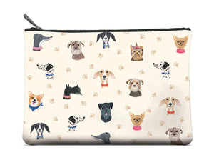 Doggone Cute Large Zippered Pouch - Pink Julep Boutique