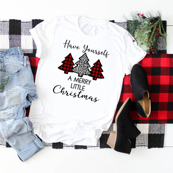 Christmas Graphic Shirt- Have Yourself a Merry Little Christmas
