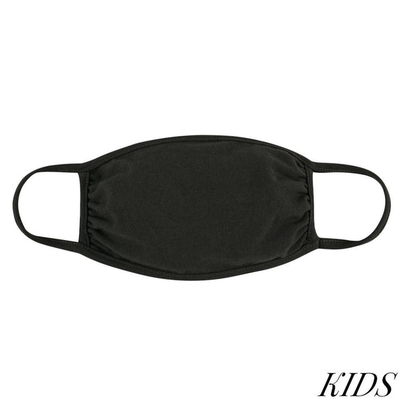 Kid's Face Mask in Dark Olive (Ages:5-10)