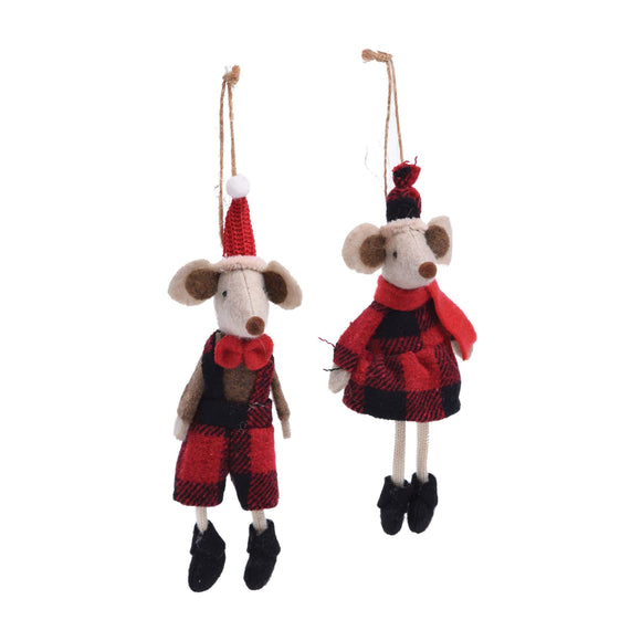 Buffalo Check Mouse Ornaments