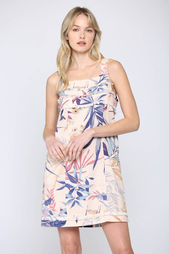 Tropical Floral Print Dress - Pink Julep Boutique