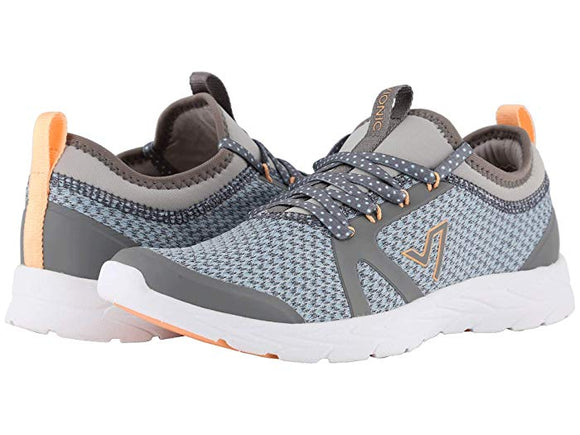 Vionic Brisk Alma Grey and Blue Athletic Shoe - Pink Julep Boutique