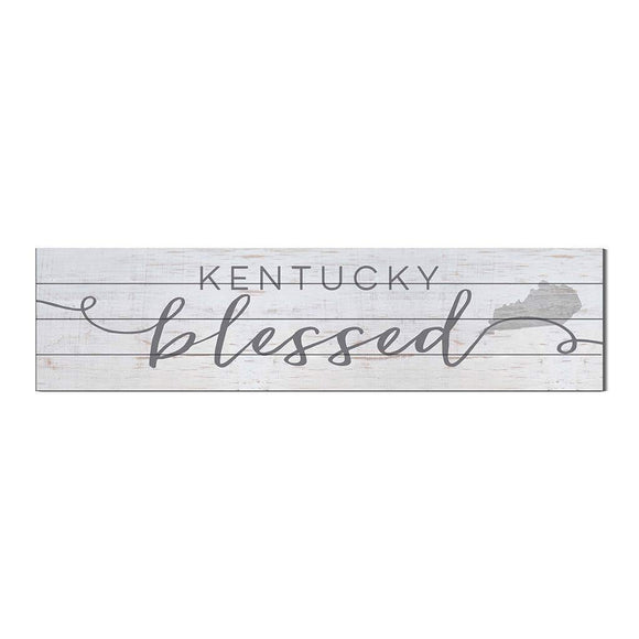 40x10 Kentucky Blessed Weathered Slat Sign - Pink Julep Boutique