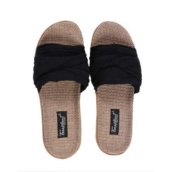 Black Bamboo Hemp Slides